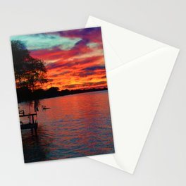 Sunset on Lake St. Clair in Belle River, Ontario, Canada Stationery Cards