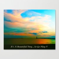 channel Canvas Prints featuring Channel by Dymond Speers