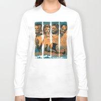 vikings Long Sleeve T-shirts featuring Vikings by RicoMambo