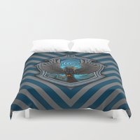 ravenclaw Duvet Covers featuring Hogwarts House Crest - Ravenclaw Film by Teo Hoble