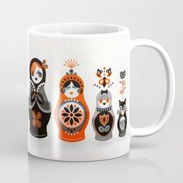 Russian Nesting Dolls – Red & Black Coffee Mug