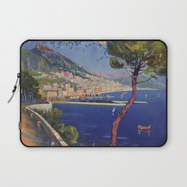 Salerno Italy vintage summer travel ad Laptop Sleeve