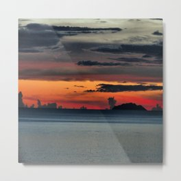 Dressed Sky With Calm Ocean Metal Print