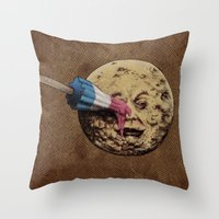 michael jackson Throw Pillows featuring Summer Voyage by Eric Fan