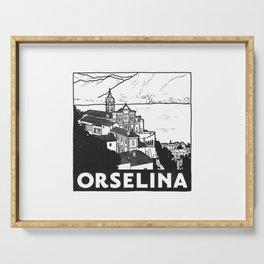 Orselina, Lago Maggiore, Italy Serving Tray