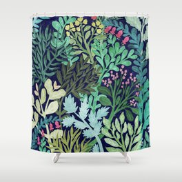 Botanical Glow Shower Curtain