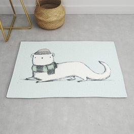 Ermine in Hat & Scarf Rug