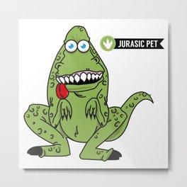 Jurasic Pet Metal Print