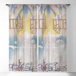 Se murio el viejito Sheer Curtain