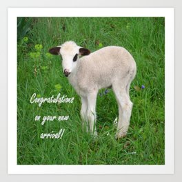 Congratulations On Your New Arrival Art Print