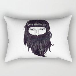 femme à barbe Rectangular Pillow