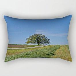 Relaxing in a field Rectangular Pillow