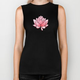 Lotus Blossom - Blush Pink and Metallic Gold Biker Tank