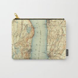 Vintage Map of Tarrytown NY & The Hudson River Carry-All Pouch