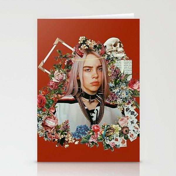 Billie Eilish Graphic Artwork Stationery Cards