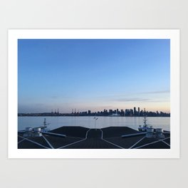 Sunset in North Vancouver Art Print