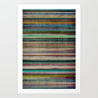 striped Art Prints featuring Striped by Sharon Johnstone