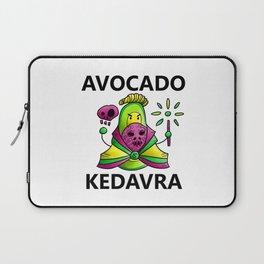 Avocado Kedavra - Death Eater Avocado with Wand Laptop Sleeve