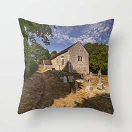 Coombes Church Throw Pillow