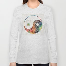 Yin And Yang - Colorful Peace - By Sharon Cummings Long Sleeve T-shirt