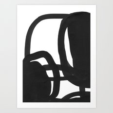 Black & White Abstract 2 Art Print