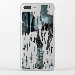 Rusalka: Москва (Night) Clear iPhone Case