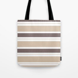 Caffeinated Tones Horizontal Striped Tote Bag