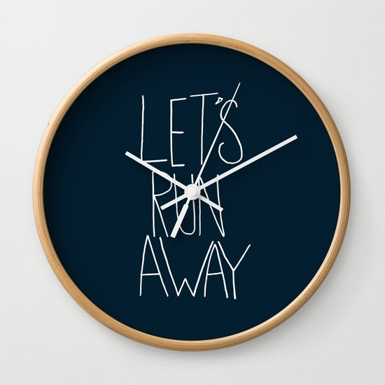 Let's Run Away: Cannon Beach, Oregon Wall Clock