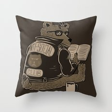 Anti Social Club Throw Pillow