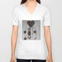 valentine V-neck T-shirts featuring Valentine by Johann Brincks