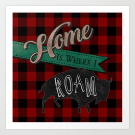 Buffalo Roam Art Print