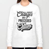 chaos Long Sleeve T-shirts featuring CHAOS by Thiago Bianchini