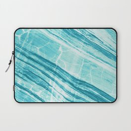 Abstract Marble - Teal Turquoise Laptop Sleeve