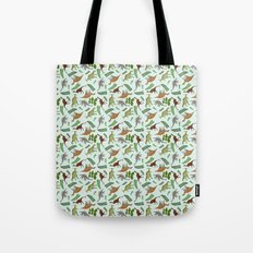 Dinosaurs & Leaves Tote Bag