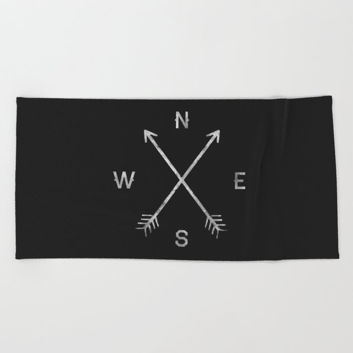 Compass Beach Towel