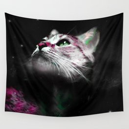 Supernova of the Ethereal Cat Wall Tapestry