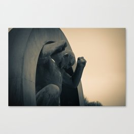 Breaking free; unleashed Canvas Print