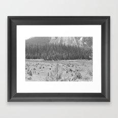 Cutting Through Trees Framed Art Print