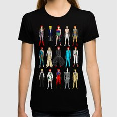 Outfits of Bowie Fashion on White Black Womens Fitted Tee MEDIUM