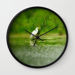 Marsh Egret Wall Clock