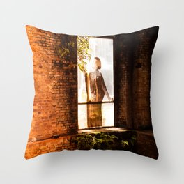 Parque das Ruinas Throw Pillow