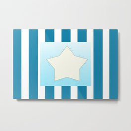 Star on stripes Metal Print