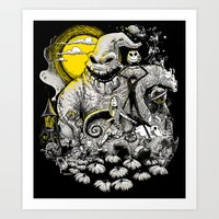 nightmare Art Prints featuring Nightmare! by Billy Allison