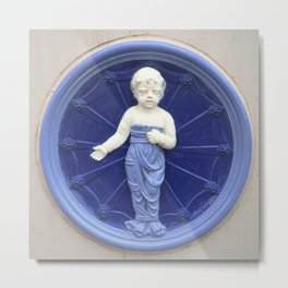 Child Ceramic Plaque Metal Print