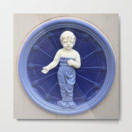 Child Ceramic Plaque Metal Print