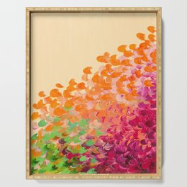 CREATION IN COLOR Autumn Infusion - Colorful Abstract Acrylic Painting Fall Splash Ombre Ocean Waves Serving Tray