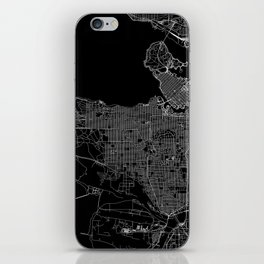 Vancouver Black Map iPhone Skin