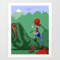 The lost art of Dinosaur Boxing Art Print