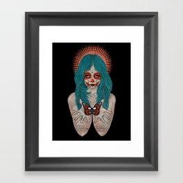 Santa Muerte Framed Art Print