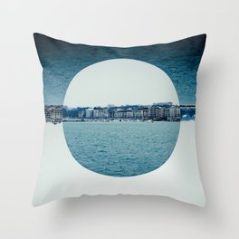 Geneva Circles Throw Pillow